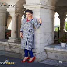 Orange readymade kurtis wholesalers surat
