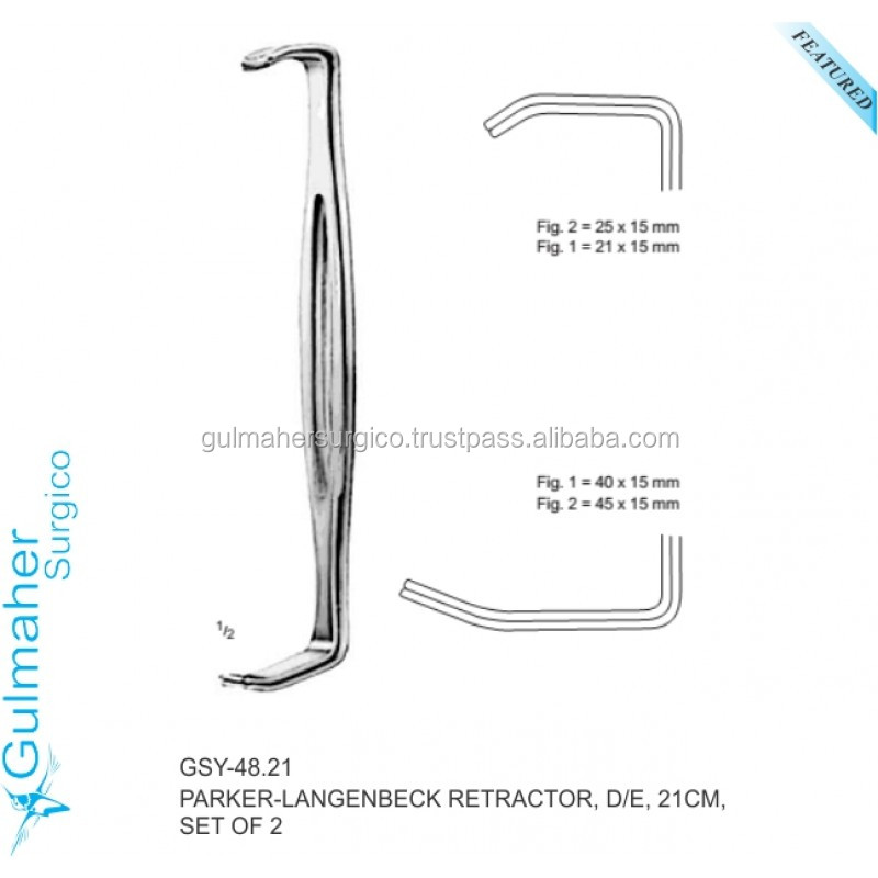 PARKER-LANGENBECK RETRACTOR, D/E, 21CM, SET OF 2