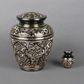 Black Engraving American indian urns funeral urns cremation