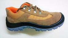 Suede leather ,safety shoes with steel toe and steel plate men genuine leather sport safety shoes double density
