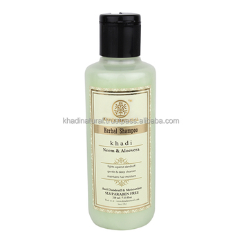 Khadi Natural Herbal Neem & Aloevera Herbal Shampoo- SLS & Paraben Free