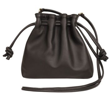 Unisex handcrafted high quality tanned cow leather mini drawstring coin wallet pouch