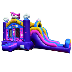 Commercial Party Rental Giant PVC Inflatable Unicorn Bouncy Castle Bouncer Combo Unicorn Bouce House With Slide
