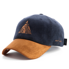 [FB130] BIG THUG TRIANGLE NAVY/ BIG SIZE 60CM corduroy baseball caps adjustable strap/ custom hat 6 panel Korean brand Premi3r