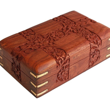 Store Indya Fine Polished Wooden Keepsake Jewelry Box Velvet Interiors