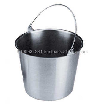Stainless steel 20 Ltr matte finished pail bucket