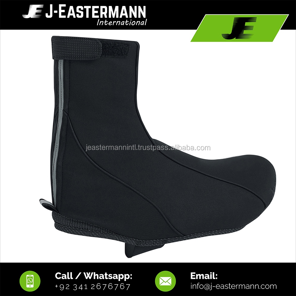 Custom Made Customer Logo Windproof Waterproof Fabric Cycling Shoe Covers, Cheap Price Bicycle Boot Covers With Zipper