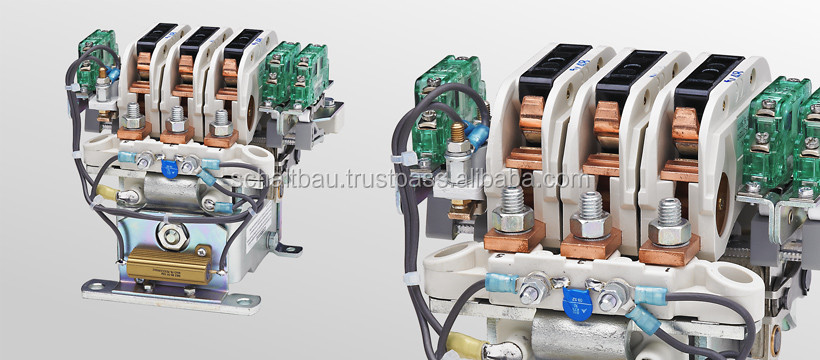 Multi-pole cam contactors for voltages up to 450 V