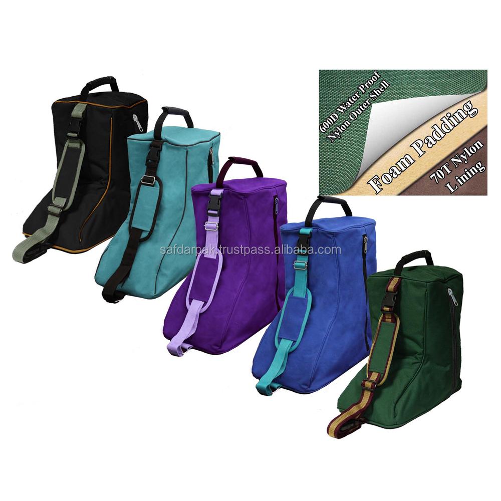 High Quality Latest Design Fit Size 420D Equestrian Shoes Cover Carry Bag Easy Traveling Bag in 6 Color