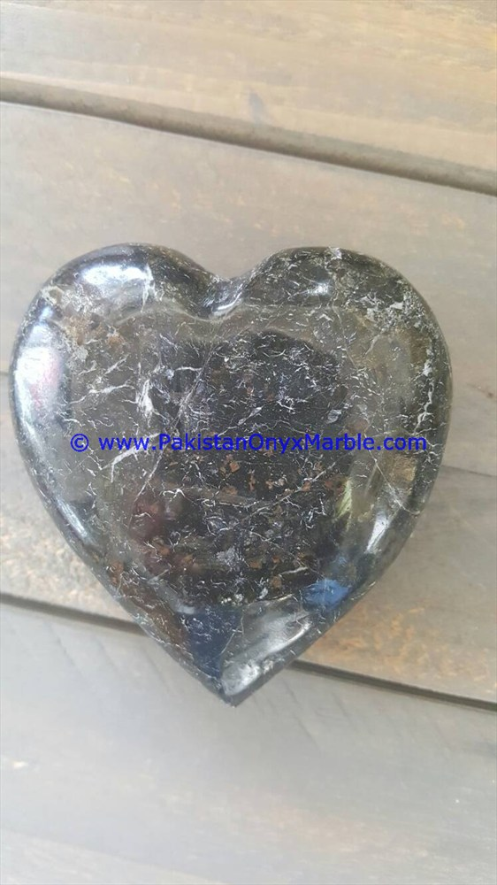 BEAUTIFUL MARBLE HEARTS BLACK WHITE TEAKWOOD FOSSIL RED ZEBRA
