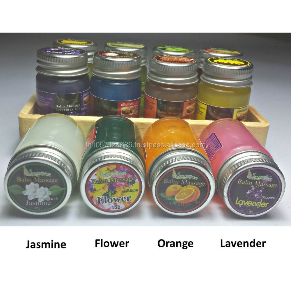 Thai Massage Balm Herbal Pain Relief x12 Aromas Gift Set