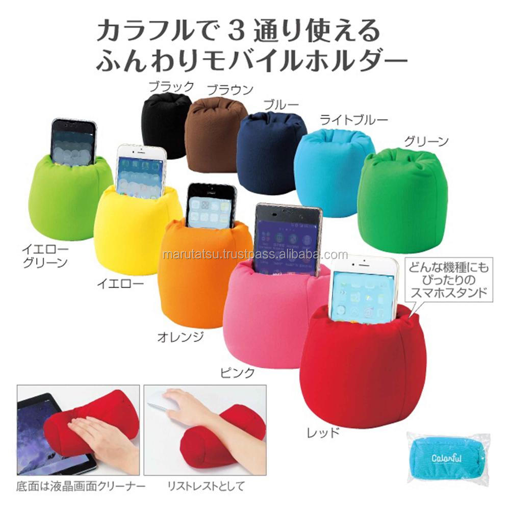 Fashionable cell phone stand Colorful 3WAY smart cushion for Hot-selling , Insert name also available