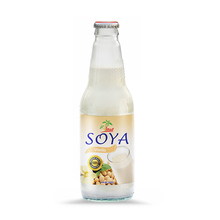 300ml soft drink glass bottle Soya Milk Drink with Vanila flavor