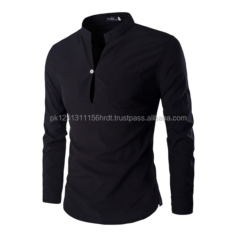 New Black Polo Shirt Men Polo 2016 Autumn Men's Fashion Slim Fit Long Sleeve Henley Shirt Casual Brand Men's Polo Shirts