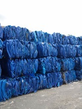 Recycled HDPE blue drum plastic scraps, blue HDPE scraps worldwide shipping