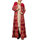 Effective Beige and Red Art Silk and Velvet Designer Suits.