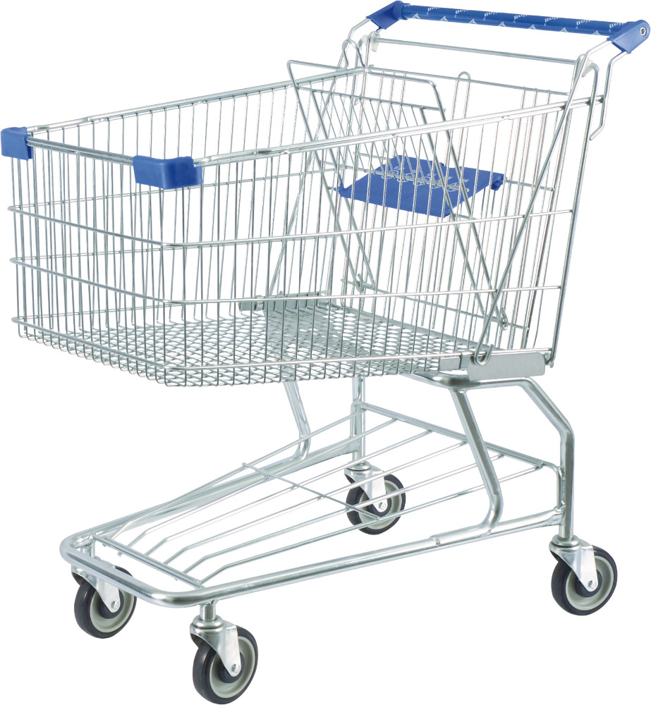 Large Capacity American Style Supermarket Shopping Trolley for Shopping Mall YD-D-180L