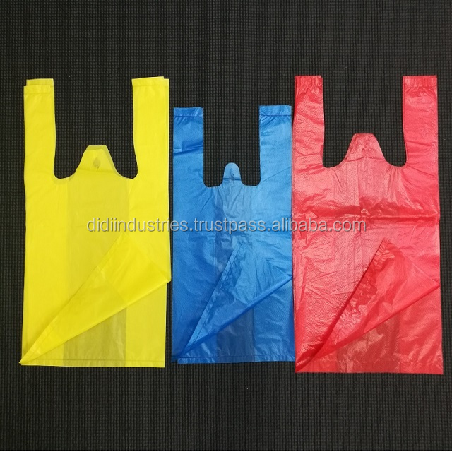 T-Shirt Bag / Market Use / Grocery Shopping Plastic Bag / Custom Made / Recyclable