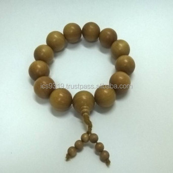 BEADS PURE MYSORE SANDALWOOD 18mm Santalum Album Original