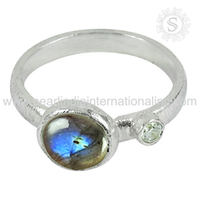 Indian jewelry labradorite cz gemstone silver jewellery 925 sterling silver ring handmade silver jewellery suppliers wholesaler