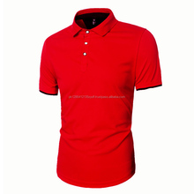 New Men,s Polo T-Shirt Top Long Sleeve Red Colour