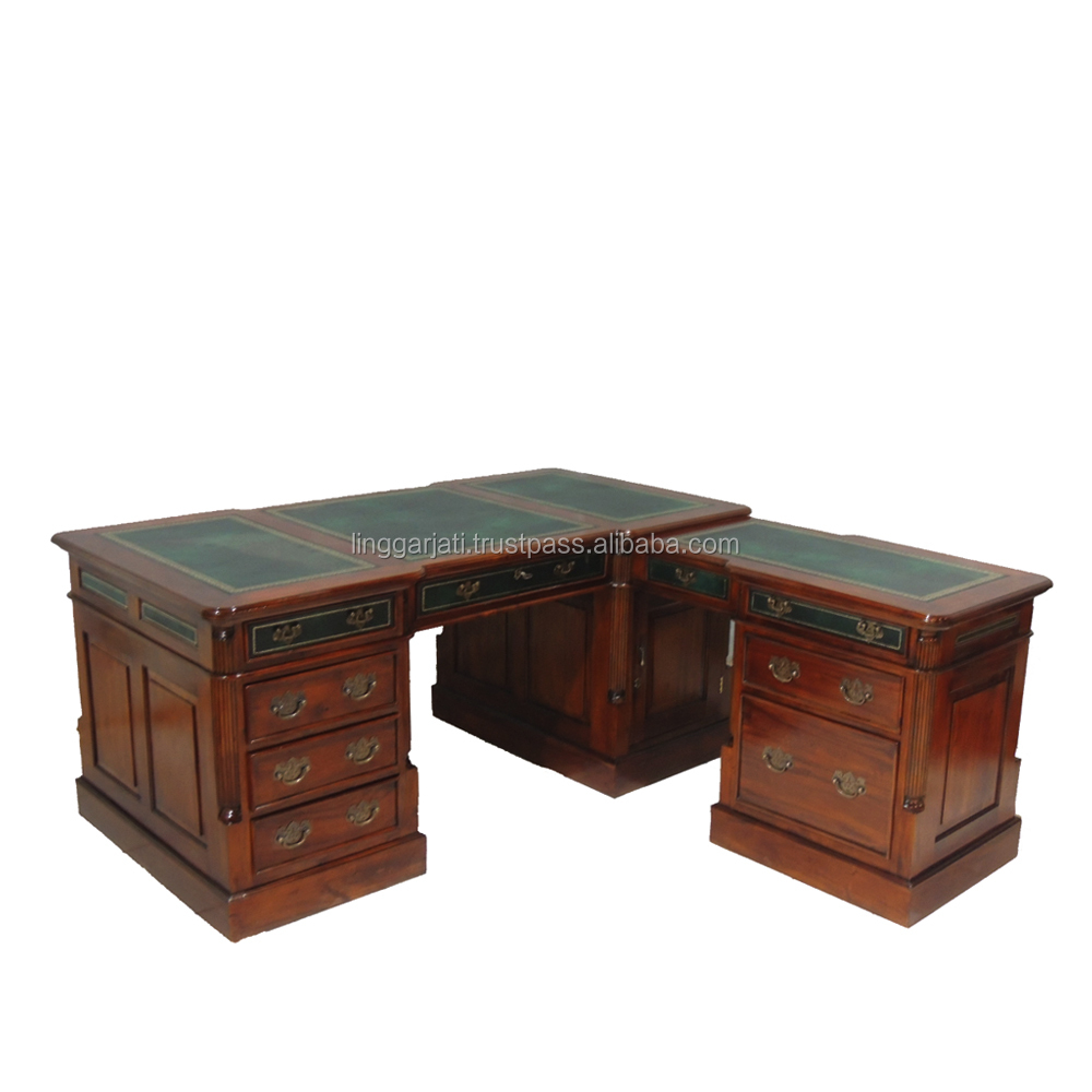 Antique Style Wooden Style Desk Extend Table Office Furniture
