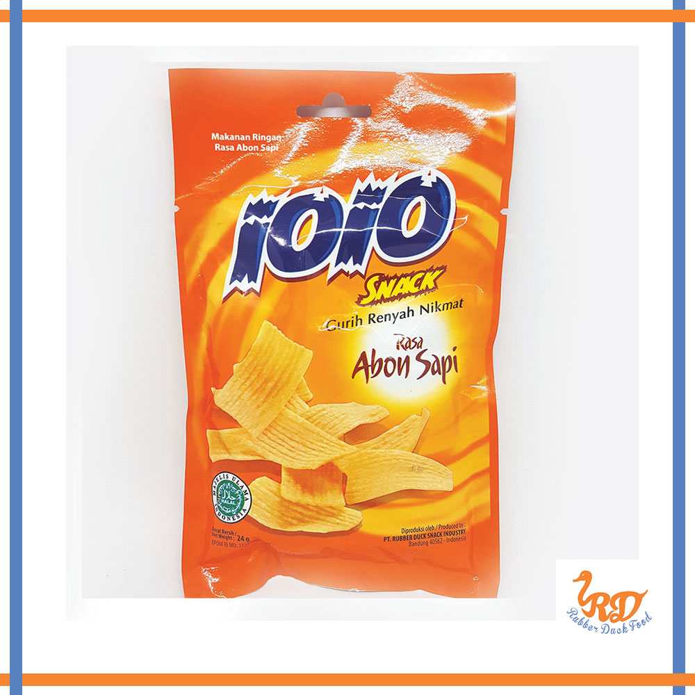 IOIO Dried Meat Floss Chips Abon Flavour Made in Indonesia Snack Food 100% Halal