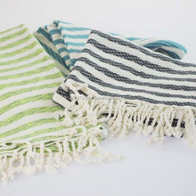 Made in Turkey - HATTUSHA PESTEMAL, Stripe Turkish Pestemal Towel, Peshtemal Turkish Wholesale %50 Bamboo %50 Cotton