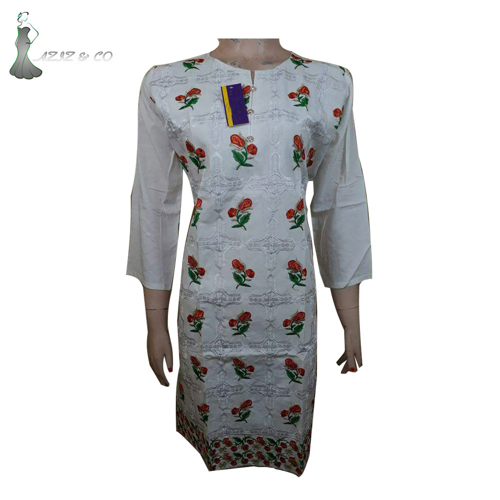 Popular Kurti Embroidery Design For Girls\ Casual Wear Dress