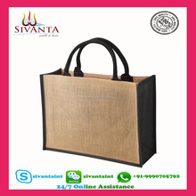 Wholesale Packaging Gift jute tote beach bag with your own logo