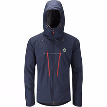 Navy soft shell fleece jacket with contrasted zippered