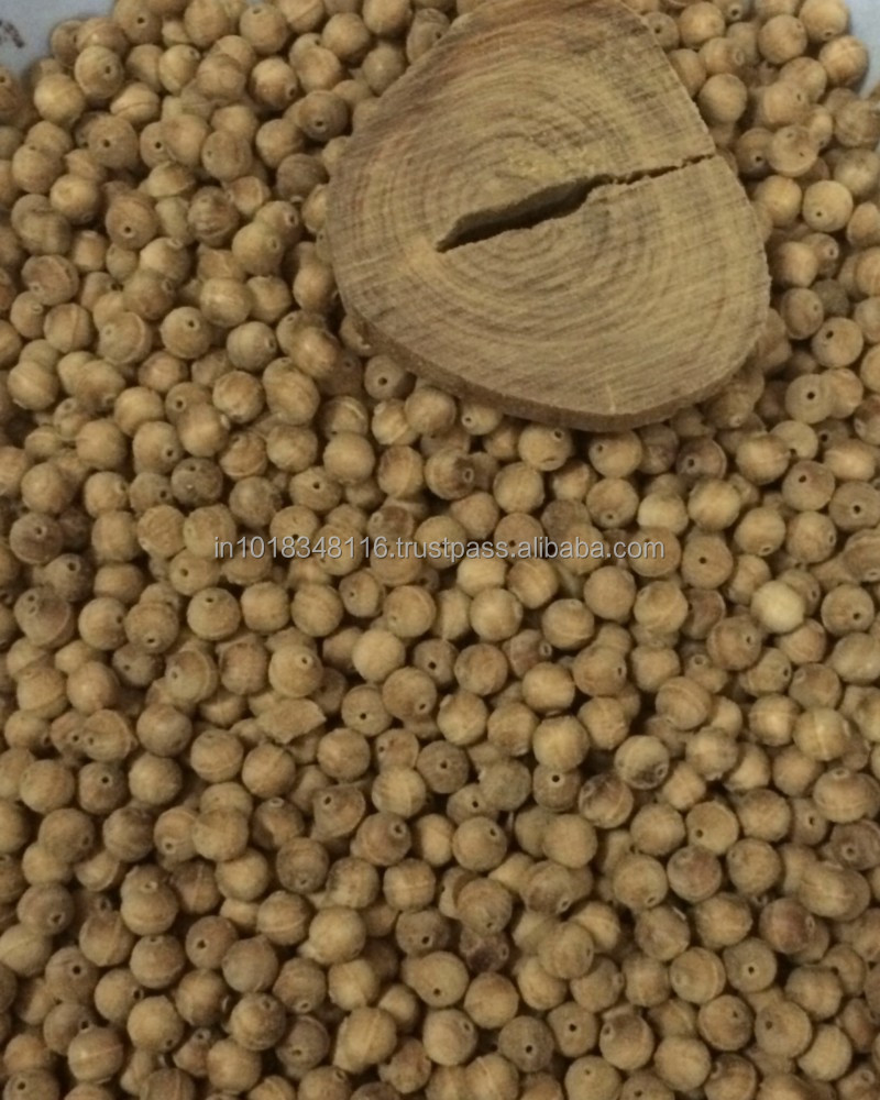SANDALWOOD ROSARY BEADS, SANDALWOOD BEADS UNPOLISHED 6.5MM, SANDALWOOD BUDDIST BEADS