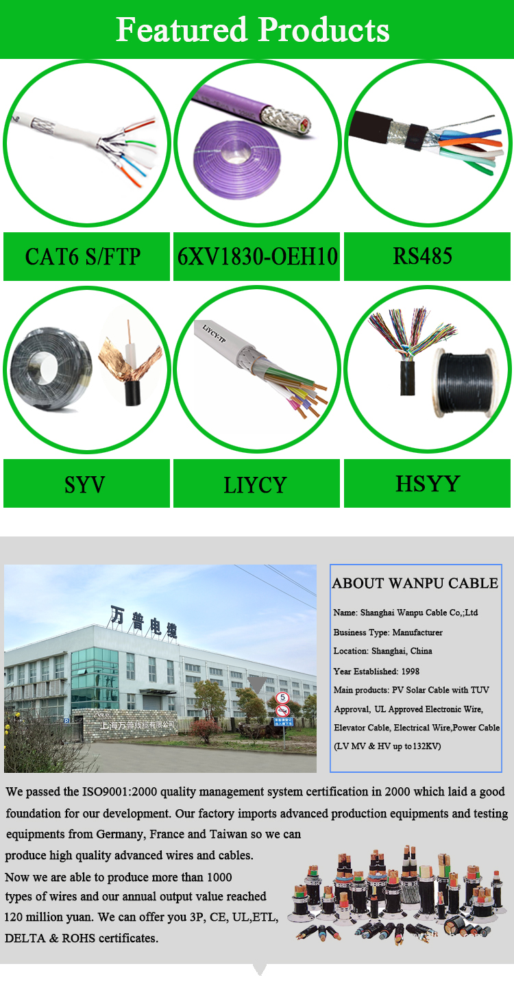 Lift Parts TVVBG Elevator Travel Cable with Steel Wires Cable Power Cables