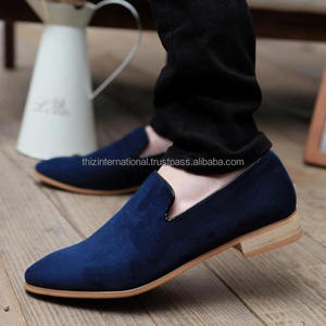 New Handmade Men Casual Loafer Suede Leather Shoes, Men Blue loafer Leather