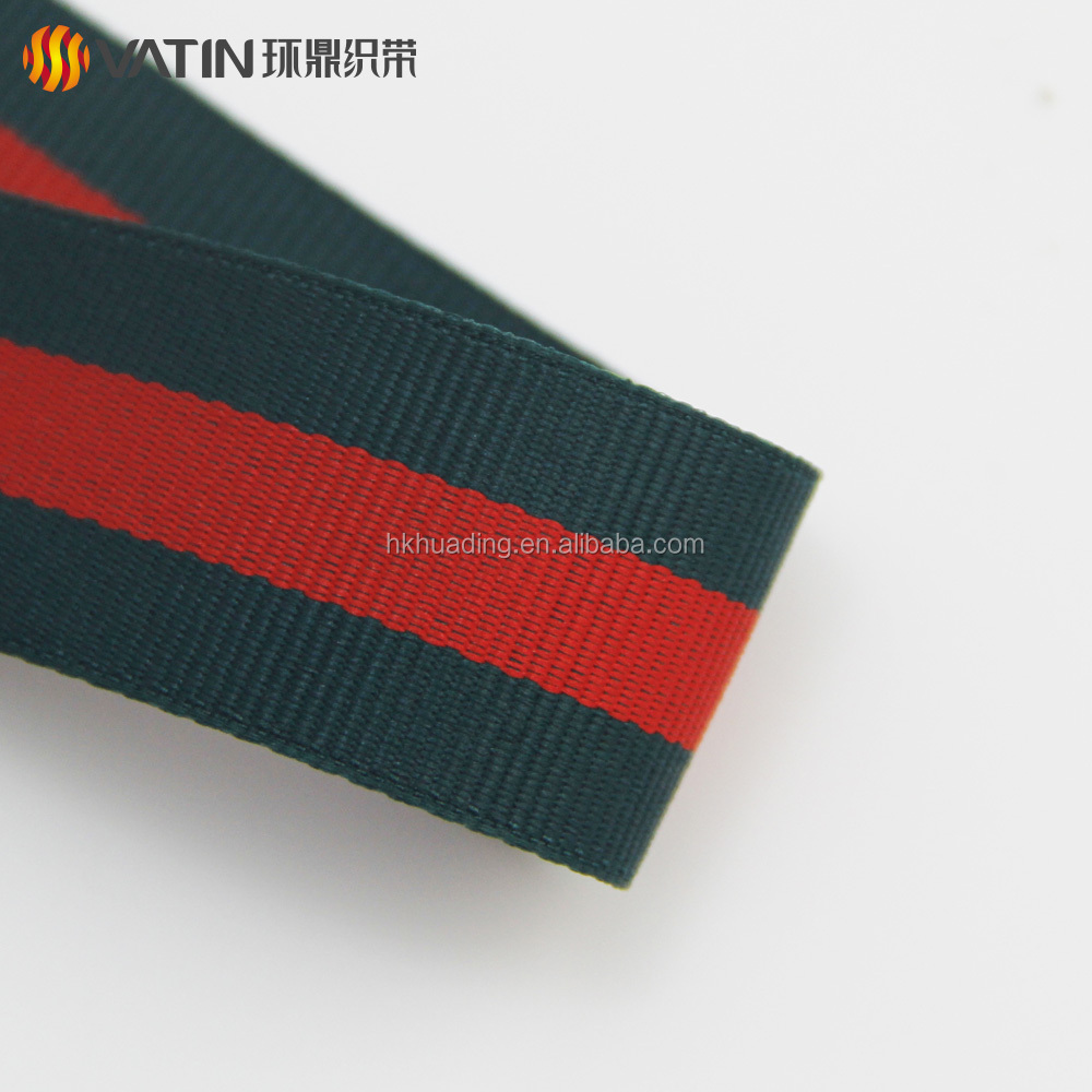 Fashion Ladies Bags Handbag Red and Green Striped Grosgrain Ribbon