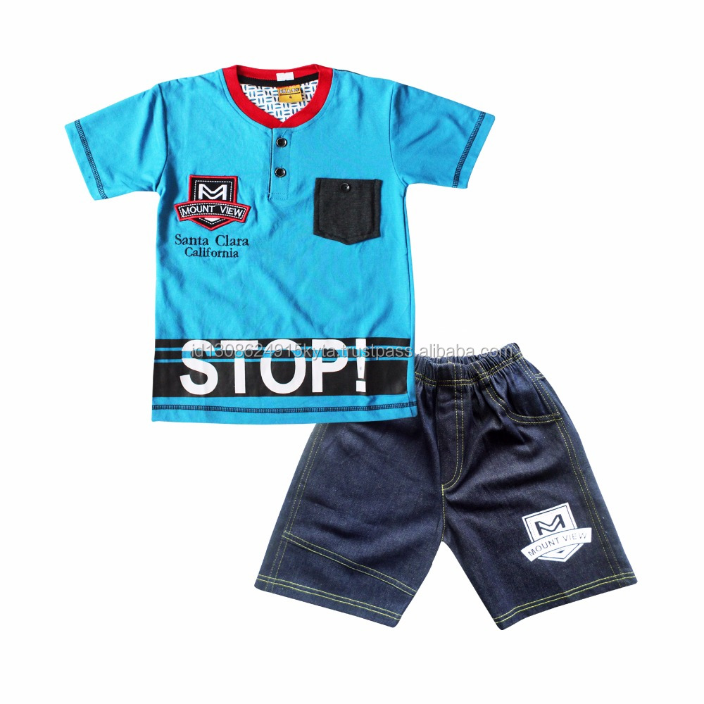 Children Clothing Set For Kids and Boys T-shirt with Jeans For Summer Season SKCO1983