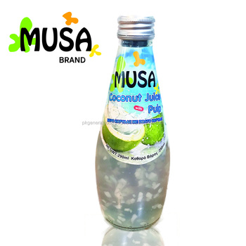 COCONUT WATER JUICE GLASS BOTTLE 290ML MUSA BRAND
