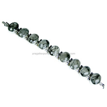 First-Class Black Rutile Designer 925 Sterling Silver Bracelet