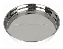 Wholesale Deep Indian Style Stainless Steel Serving Tray/ Food Tray/ Fruit Tray