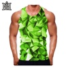 100 % High Cotton Quality Cut side Stringer / Men Cotton Custom Made Singlet