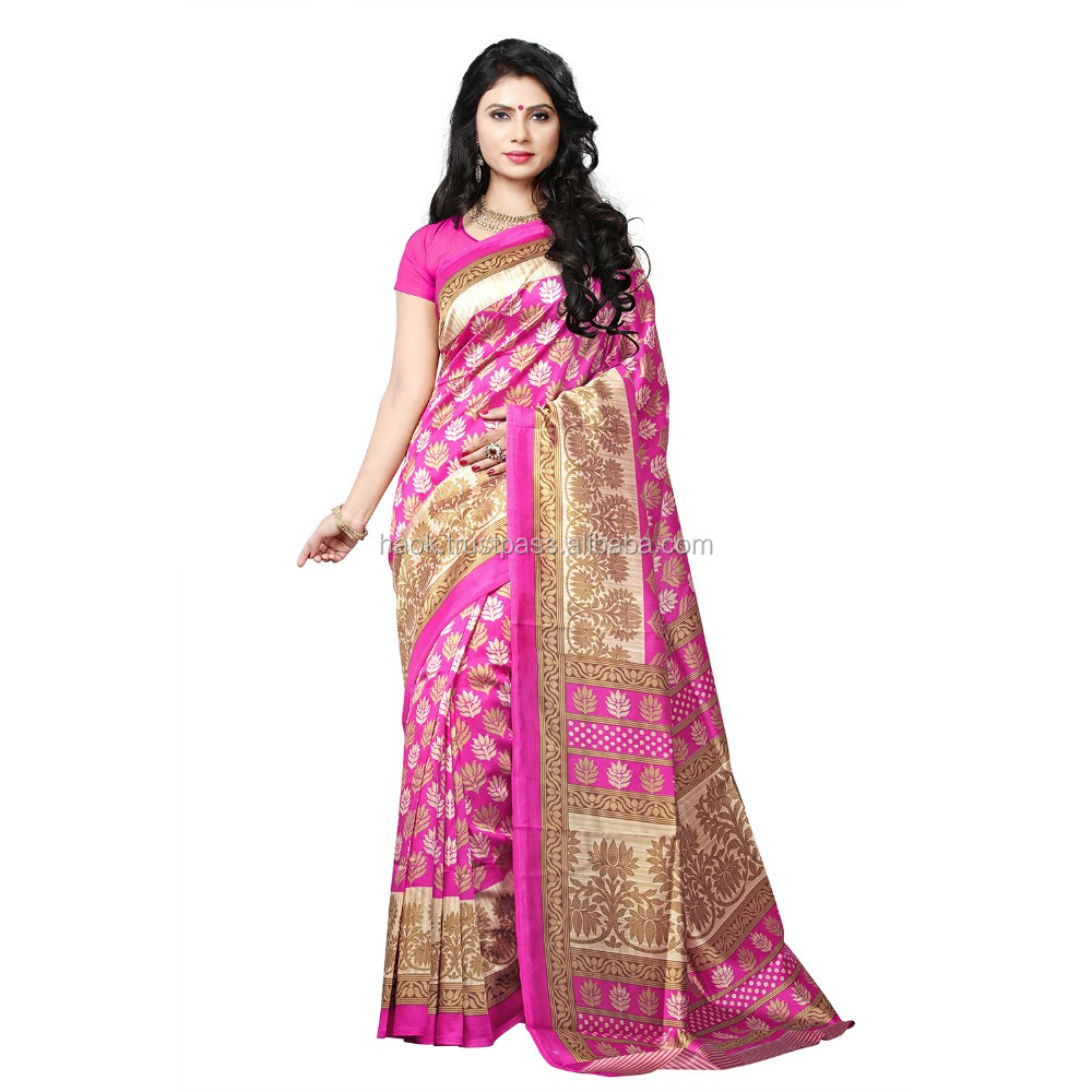 Indian Wear Multicolour Bhagalpuri Art Silk Printed Saree