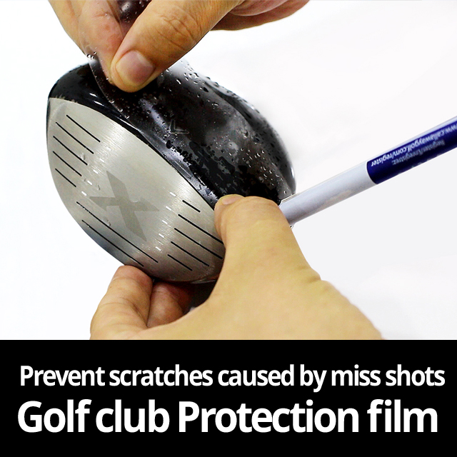 Golf Club paint protection film known as clear bra TPU self healing