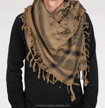 AA New Fashion Customized Military Shemagh Arab Tactical Desert Shemagh KeffIyeh Scarf Wrap 100 % Cotton