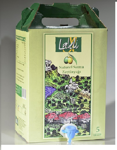 HIGH QUALITY EXTRA VIRGIN EARLY HARVEST OLIVE OIL by LALELI ( PRODUCED IN TURKEY ) ( 5 Liter Tin - Can )