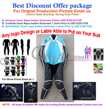 CE certified body armors elbow back knee shin thigh full downhill skate boarding leather suit