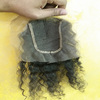 Virgin Indian hair raw unprocessed 4*4 lace closure free parting lace closure