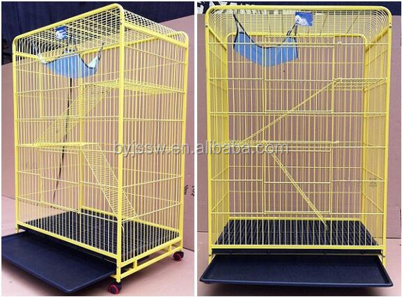 Top Selling 3-tier Wire Cat Cage For Sale Cheap (Free Sample)