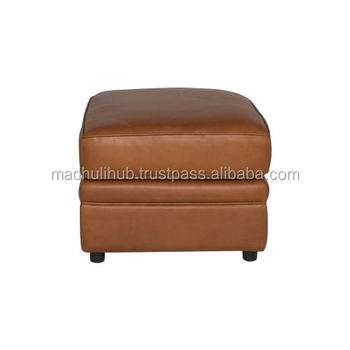 Brown Color Leather Ottoman Lounge Chair Seat For Home Furniture An Comfortable Seat