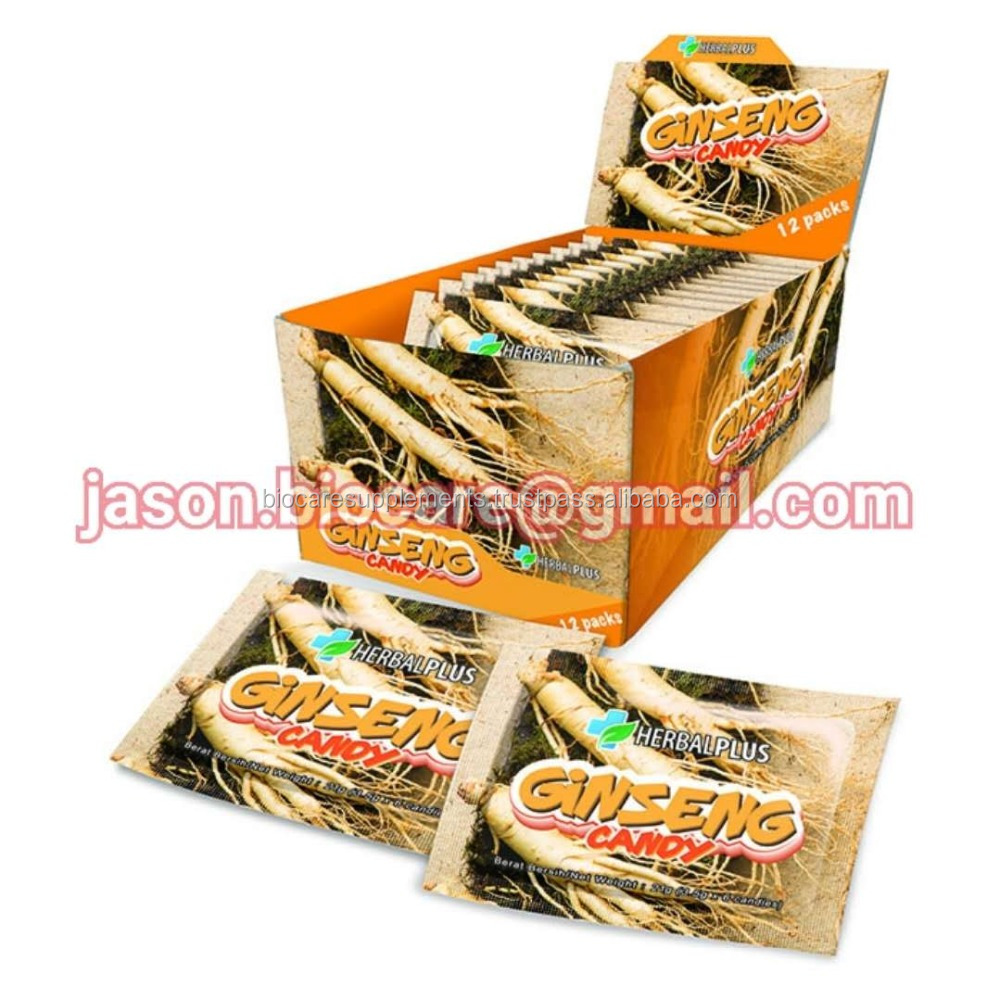 HERBAL PLUS GINSENG CANDY (3.5g X 6 Candies X 12 Packs Per Box)