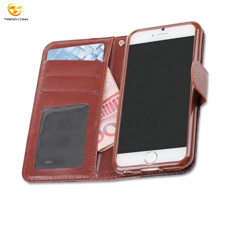 smartphone wallet style leather case for iphone 6s plus